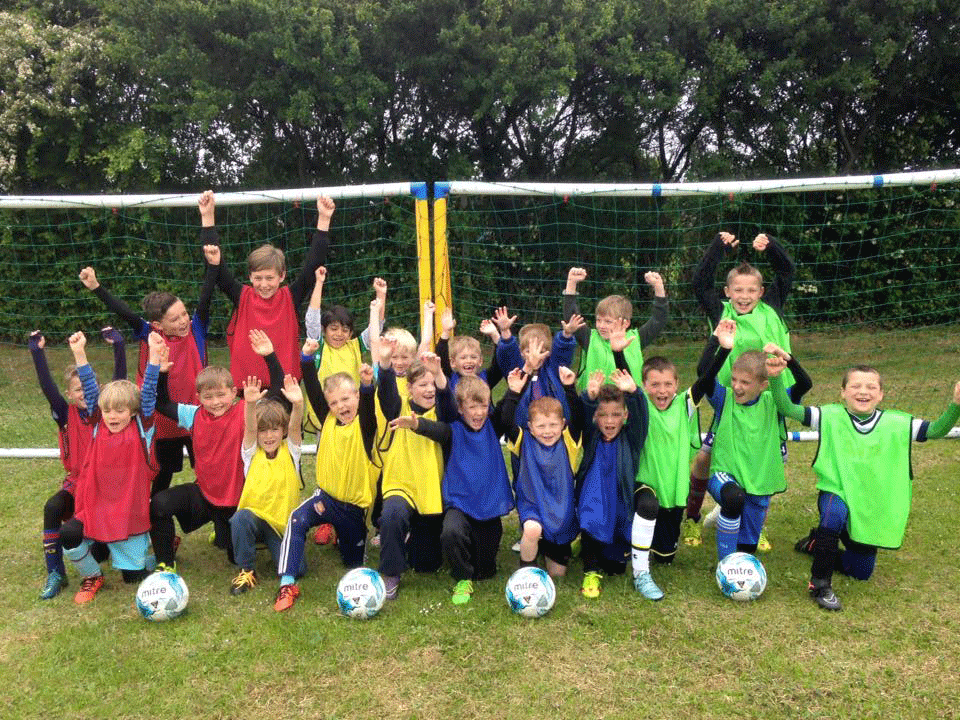 Children enjoying a Football Camp with FITC Football Academy Essex